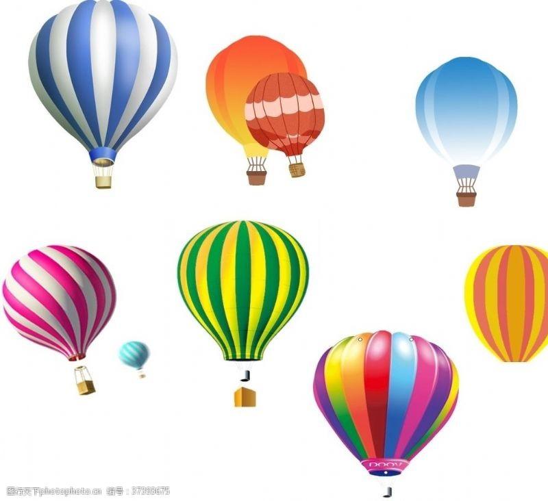 彩色气球热气球