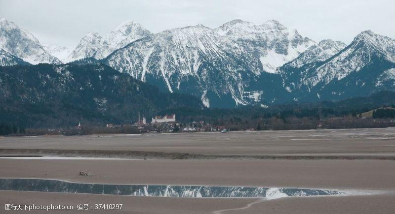 瑞士风光阿尔卑斯山