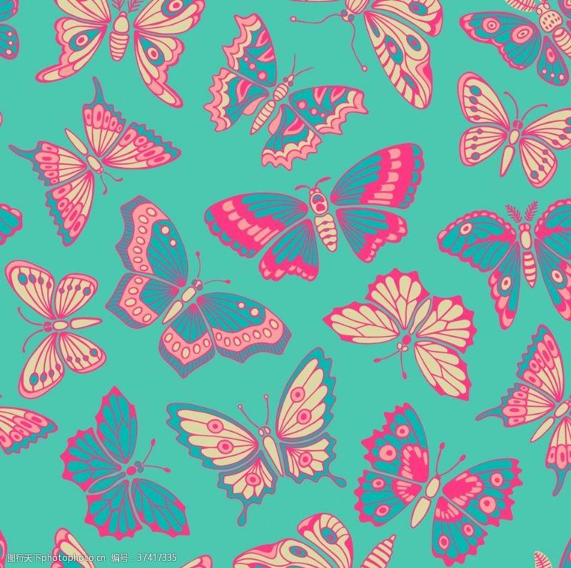 移门无缝花纹蝴蝶