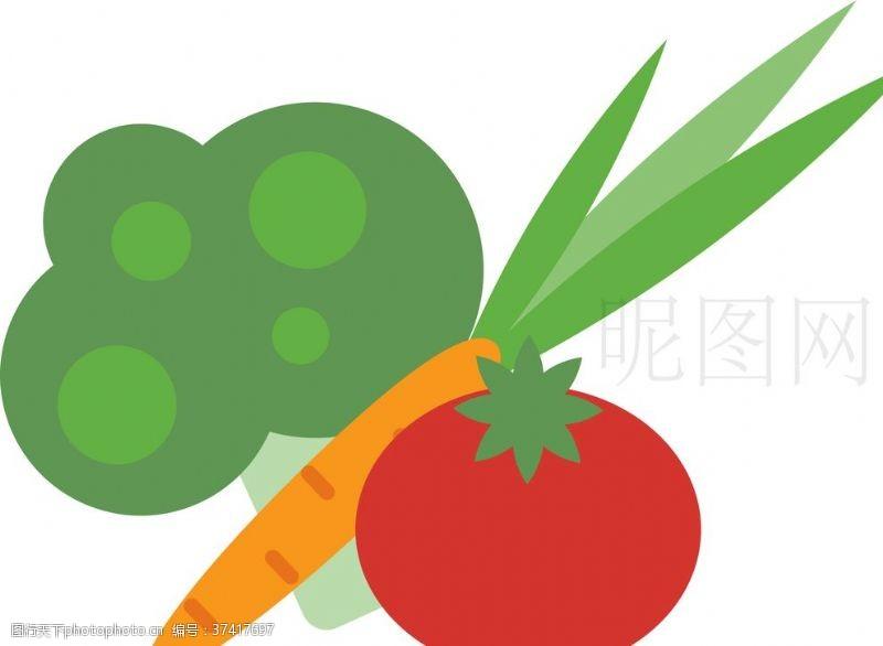 胡萝卜西红柿蔬菜