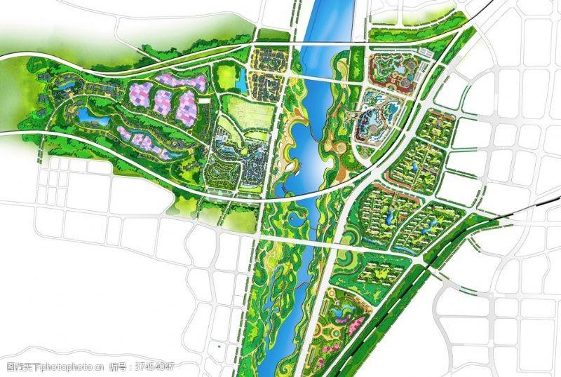 康百万河洛文化城项目总平图