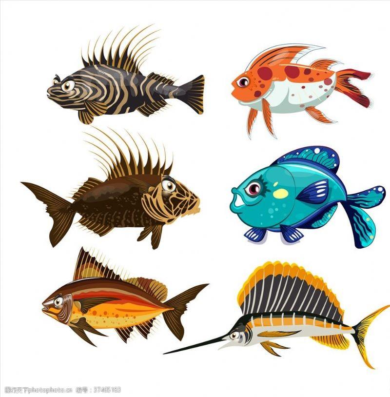 海洋鱼卡通鱼类