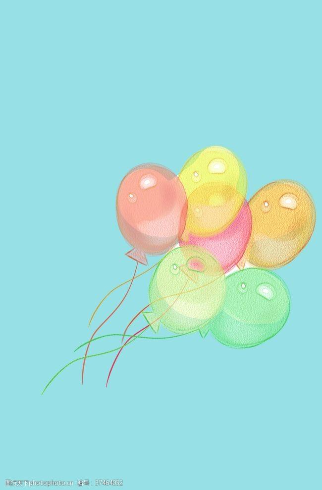 彩色气球气球背景