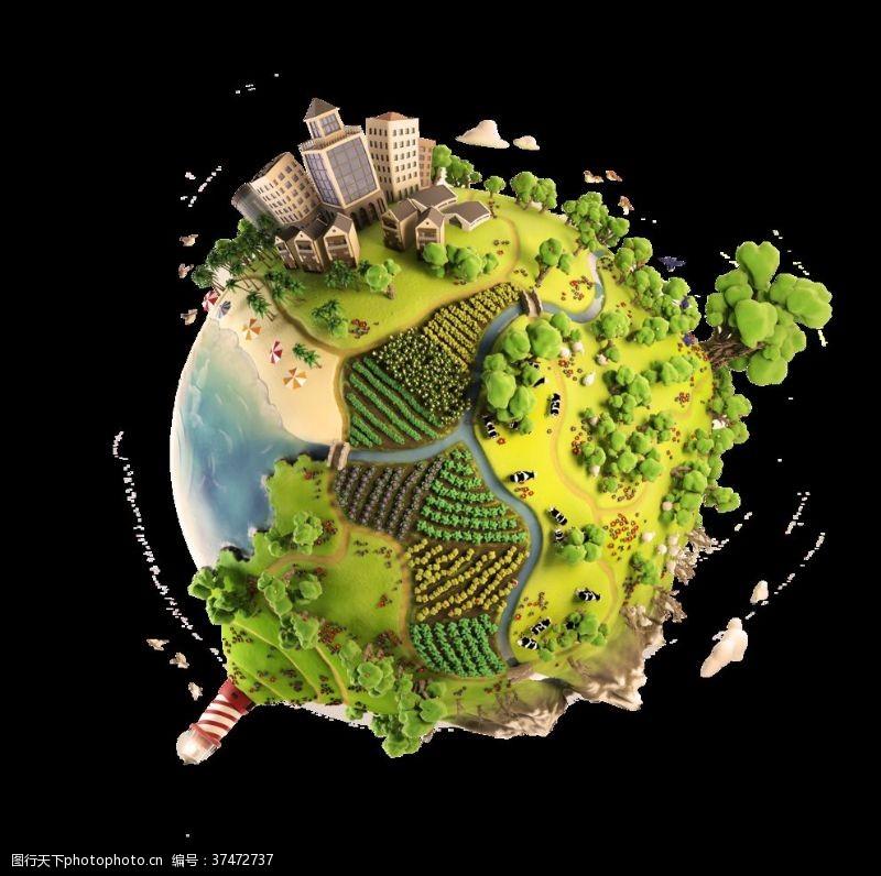 地球日展板地球