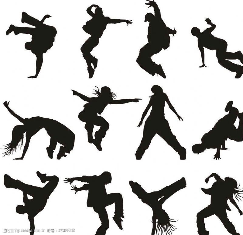 人物造型街舞人物