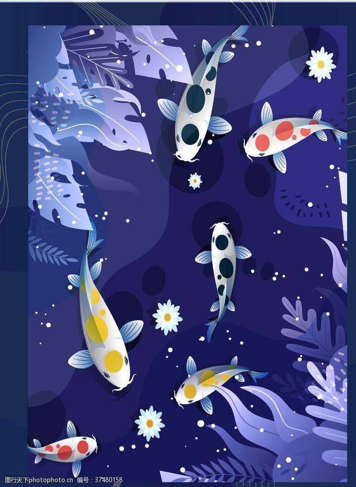 锦鲤鱼背景