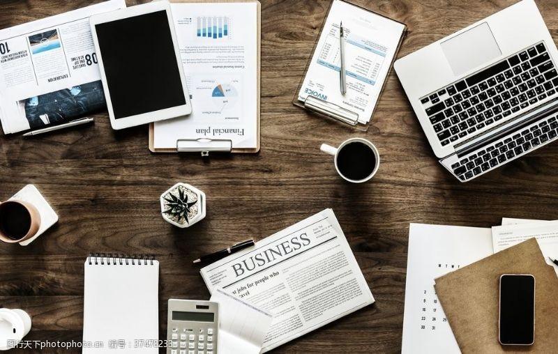 商务人士商务桌面