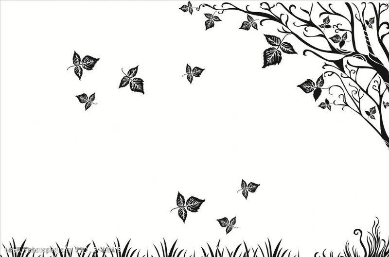 简洁图案装饰树图案