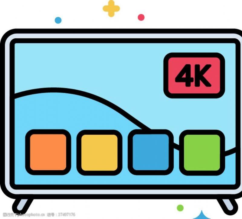 网络电视机图标