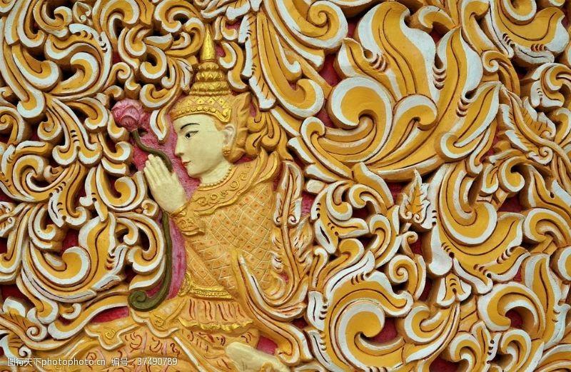 大图雕刻宗教图案