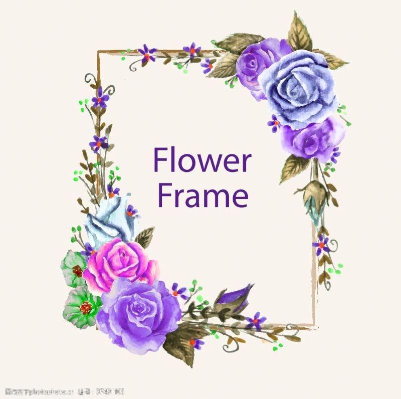 邀请函花朵边框