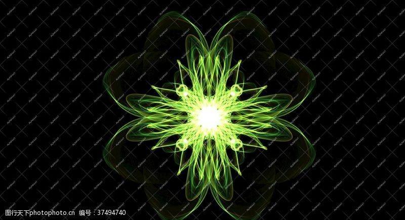 炫光花绿色花纹光效