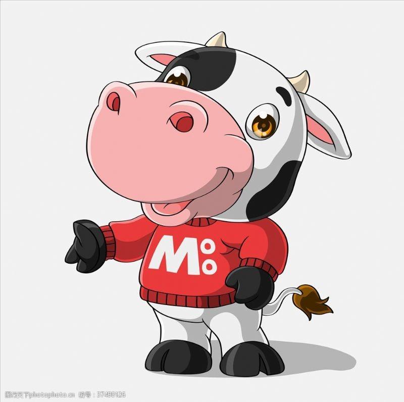 x展架模板奶牛