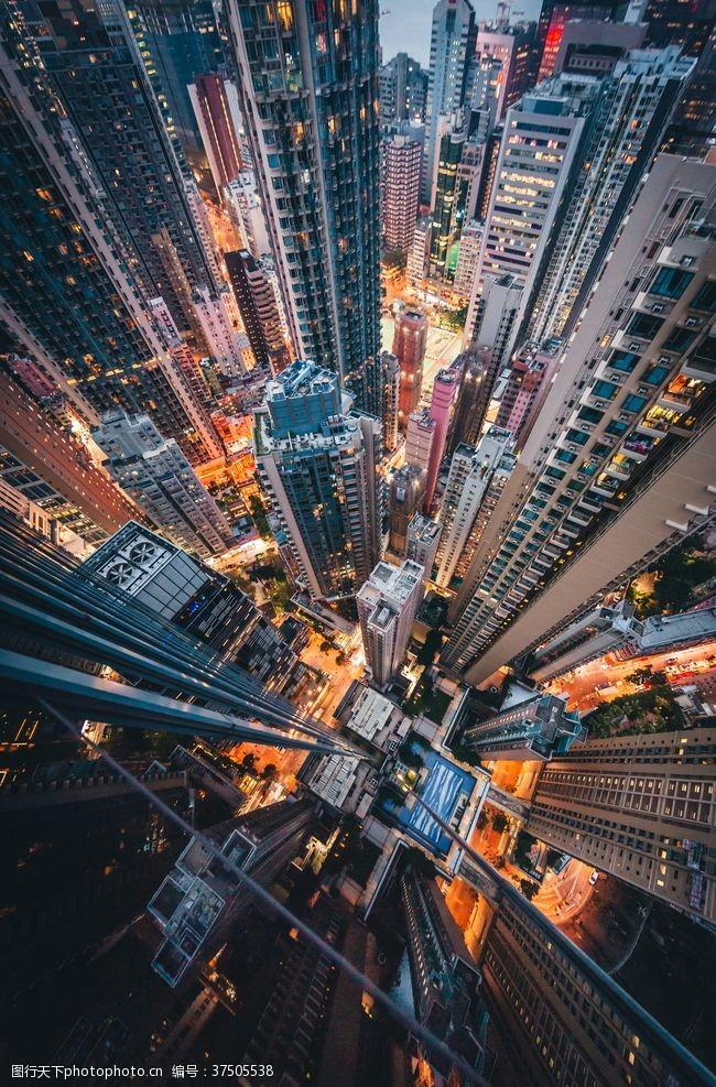 夜色香港建筑风景