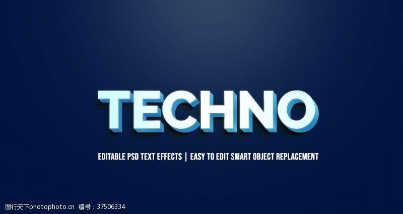 阴影的字体字体样式蓝底白字阴影效果