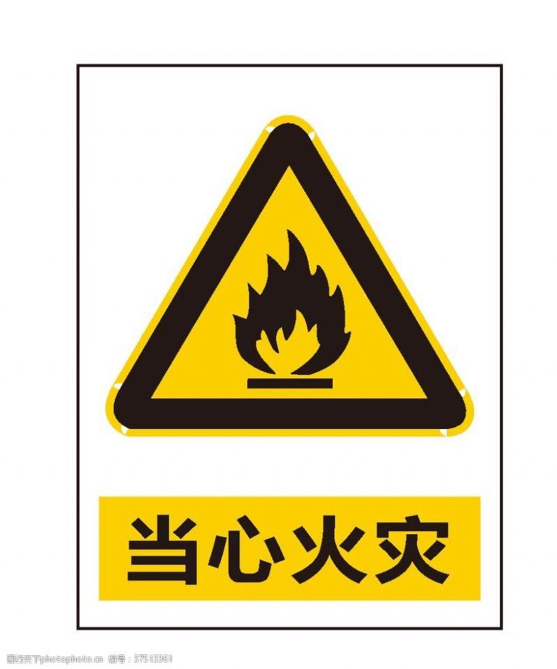 安全标志当心火灾