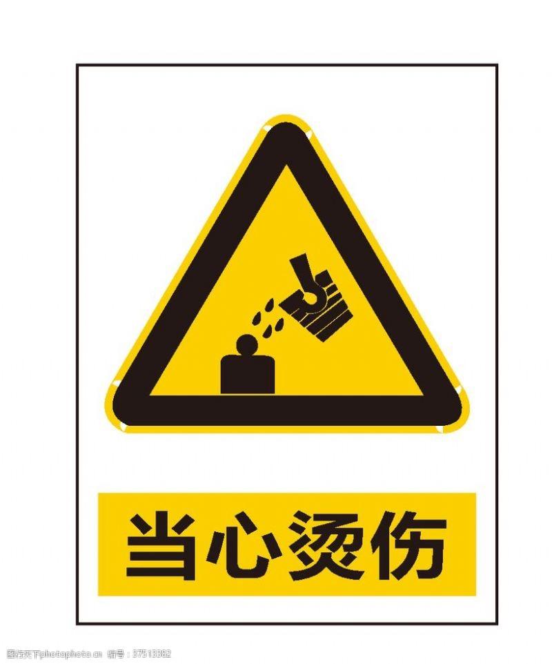 安全标志当心烫伤
