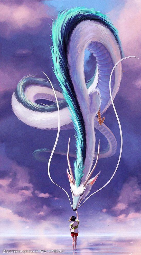 宫崎骏动画千与千寻同人手绘油画