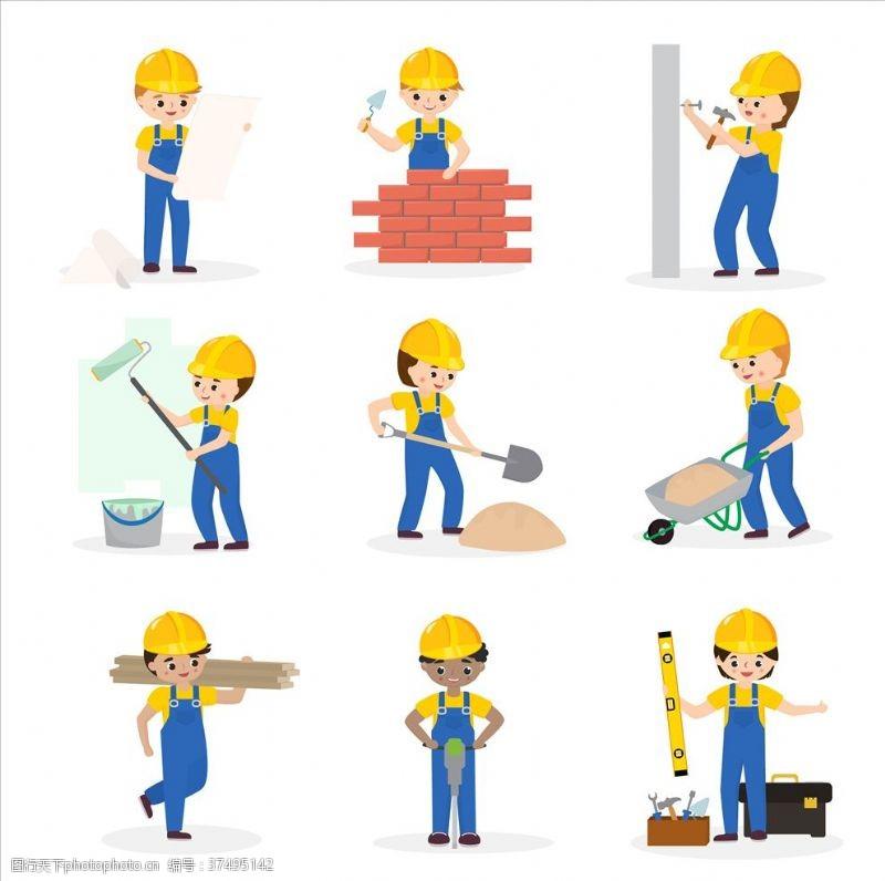 展板等建筑工人