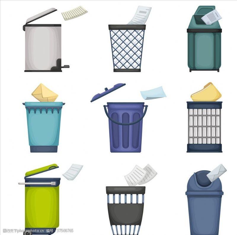 环保展板垃圾桶