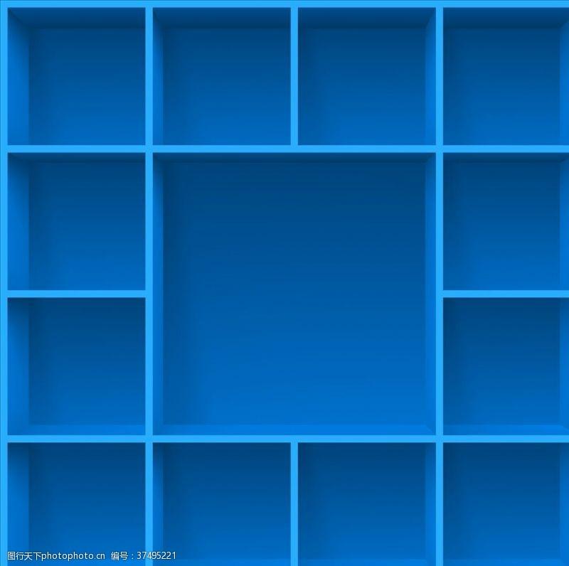 蓝色会议背景蓝色背景板