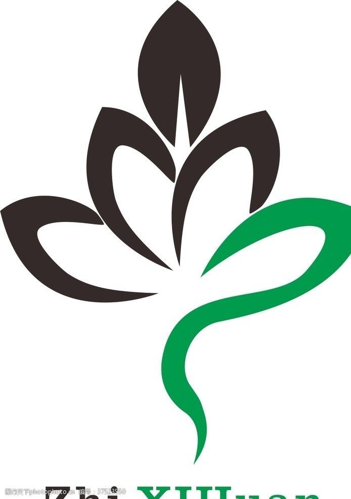 字体logo设计logo绿叶树叶创意设计