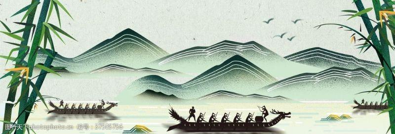 骨气淘宝天猫端五节中国风背景素材