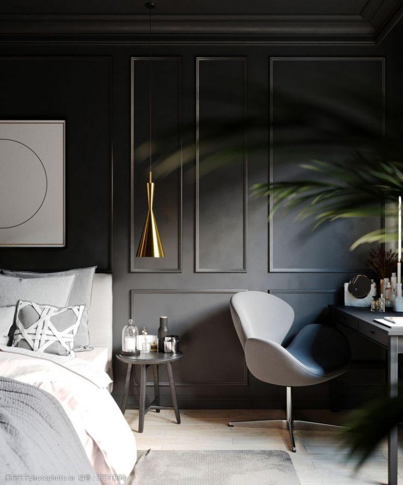 室内卧室客厅厨房书房效果图