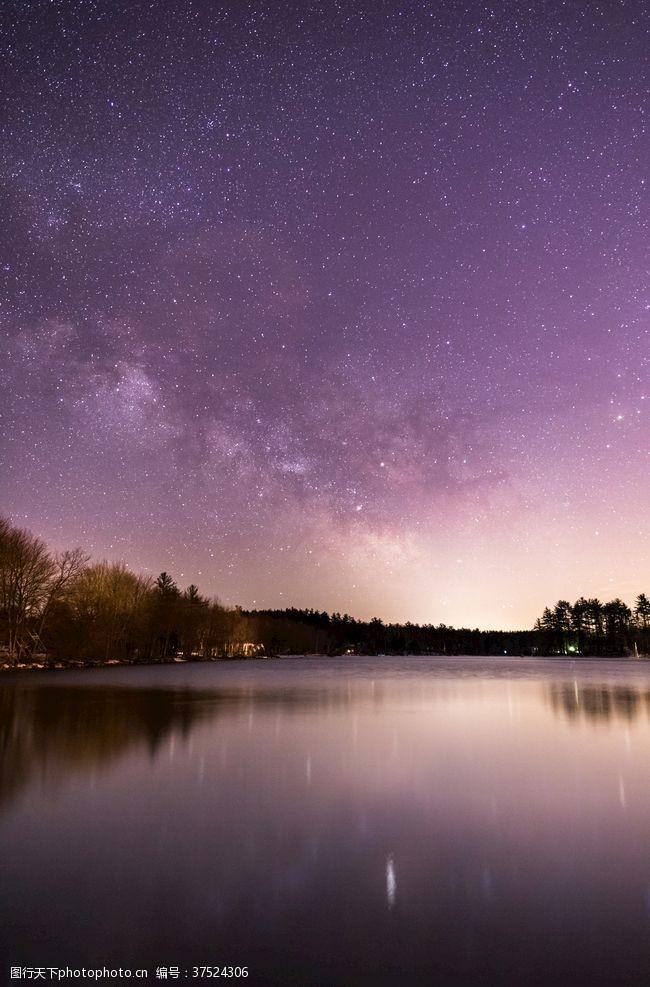 紫色梦幻背景星空