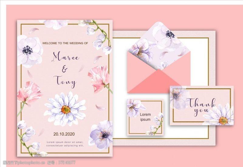 古典装饰婚礼邀请函