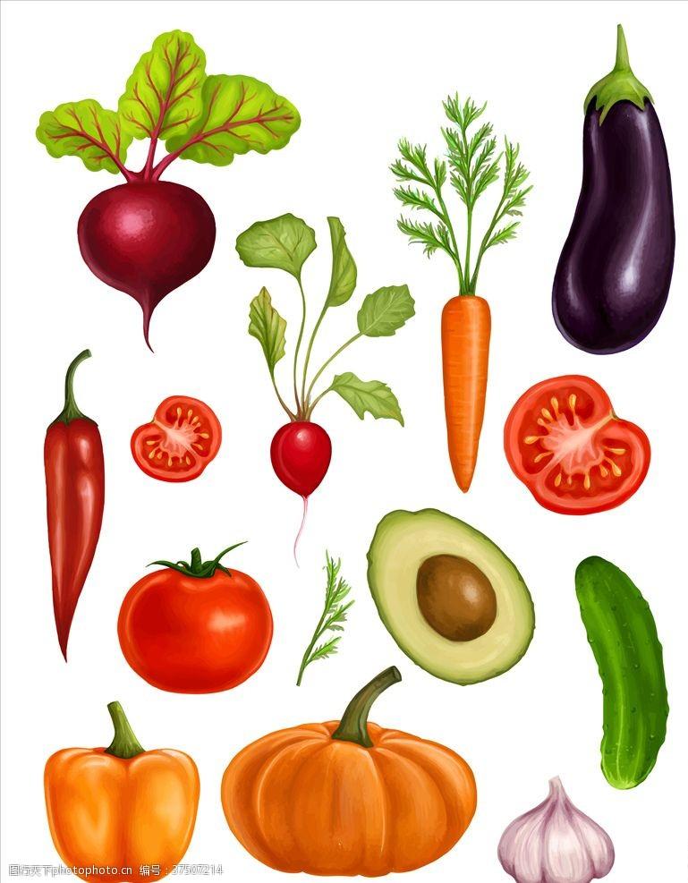 动漫水果卡通蔬菜