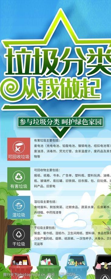 环保展板垃圾分类展架
