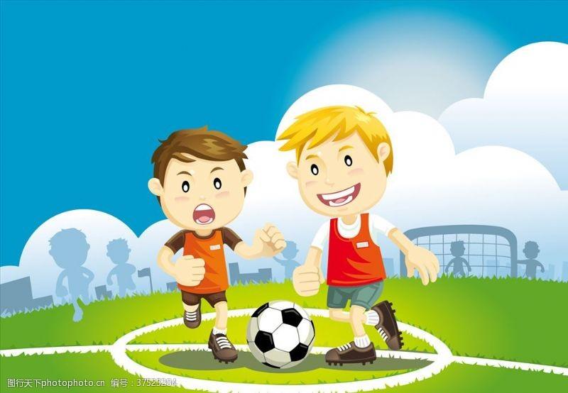 儿童幼儿小孩踢足球