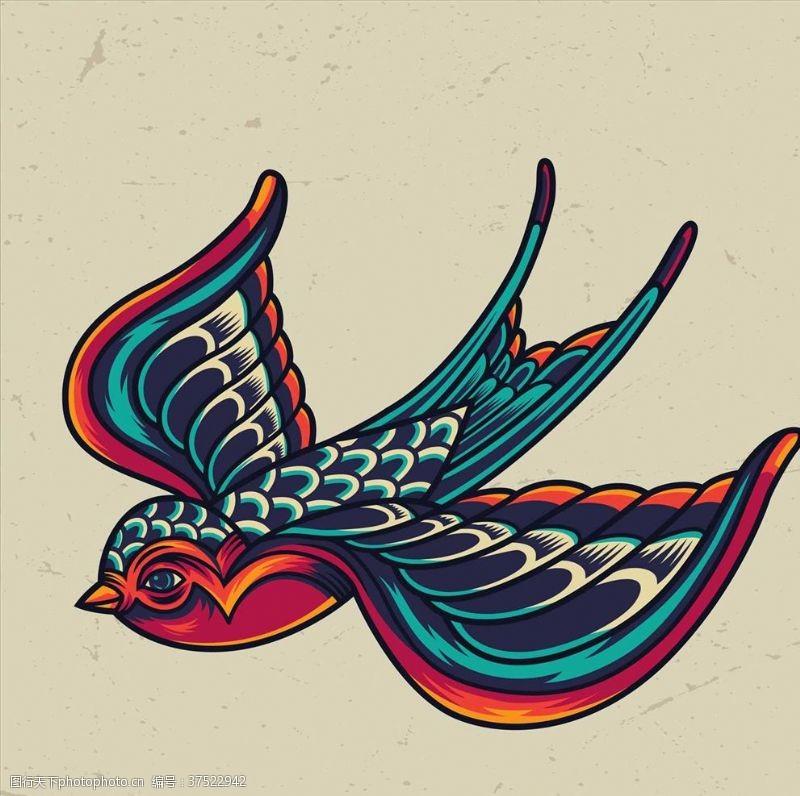 小鸟插图小燕子
