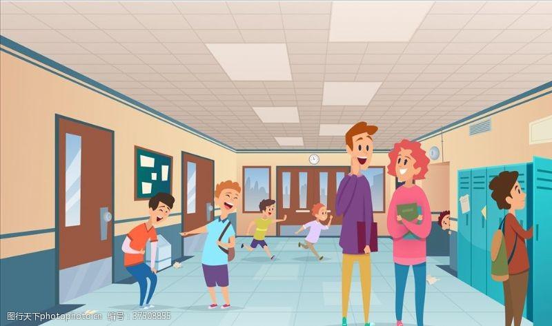 商业矢量学校插画