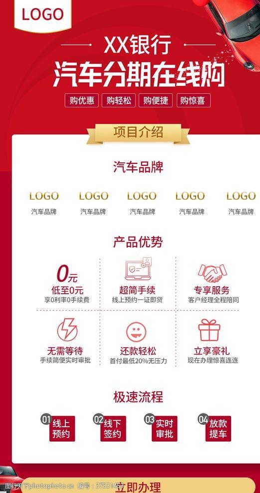页面设计银行汽车分期购物