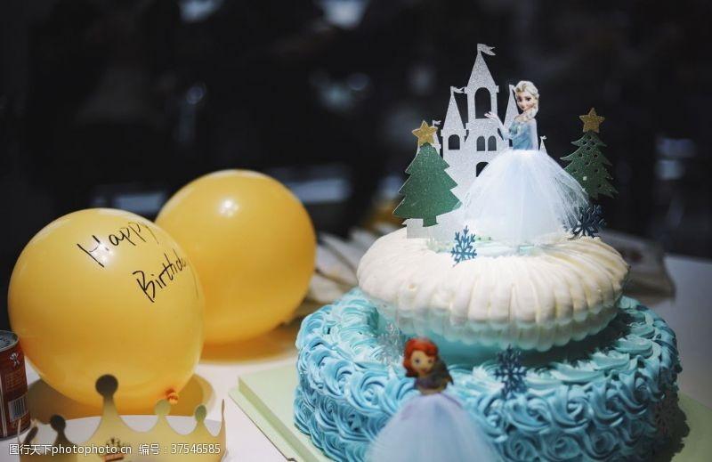 气球迪士尼主题蛋糕