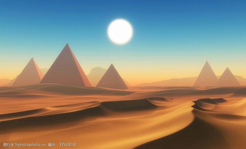 广告杂志金字塔3D渲染图