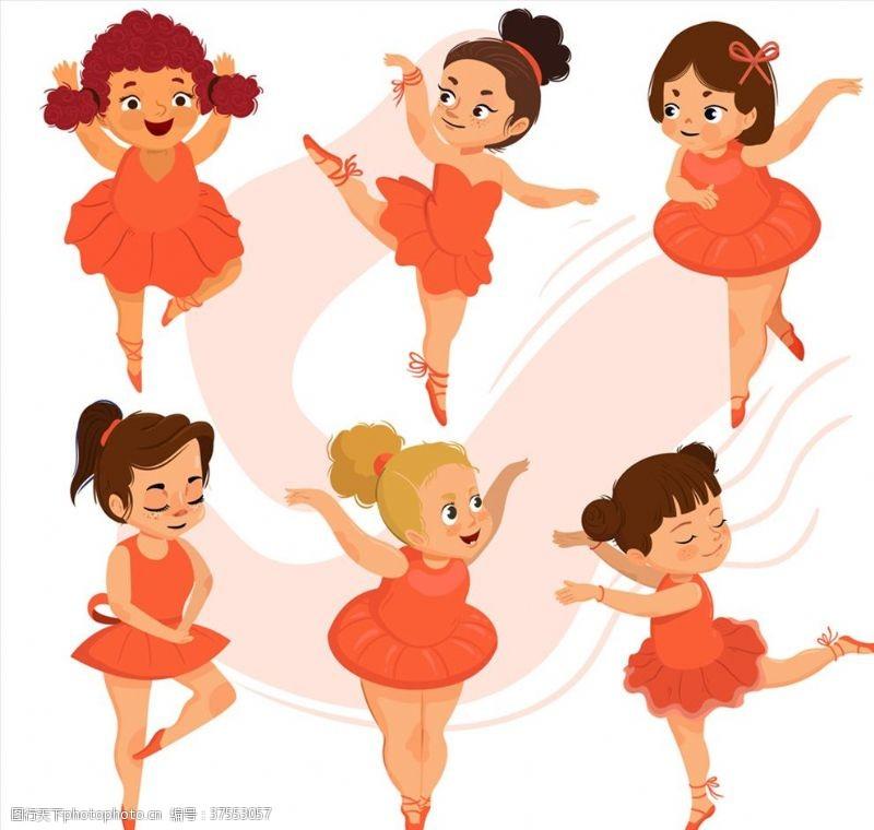 人物图库卡通芭蕾舞女孩