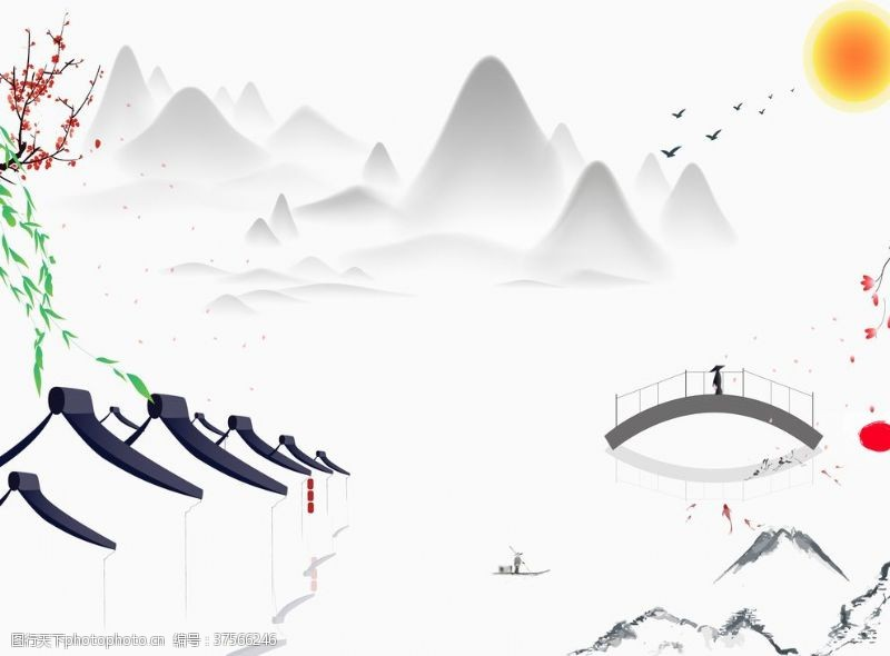 中国风背景墙新中式背景墙