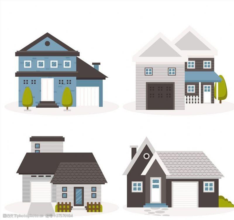高建筑矢量立体建筑房子素材