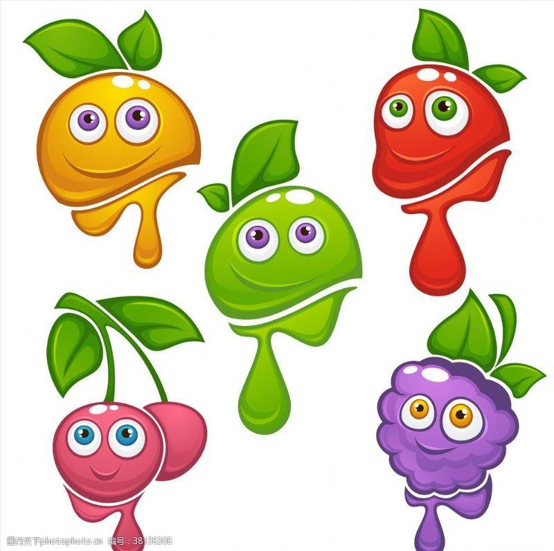 水果口味卡通水果