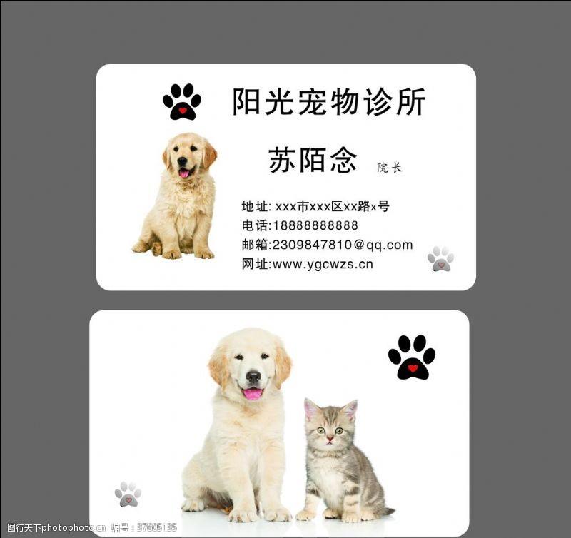 宠物诊所名片宠物名片