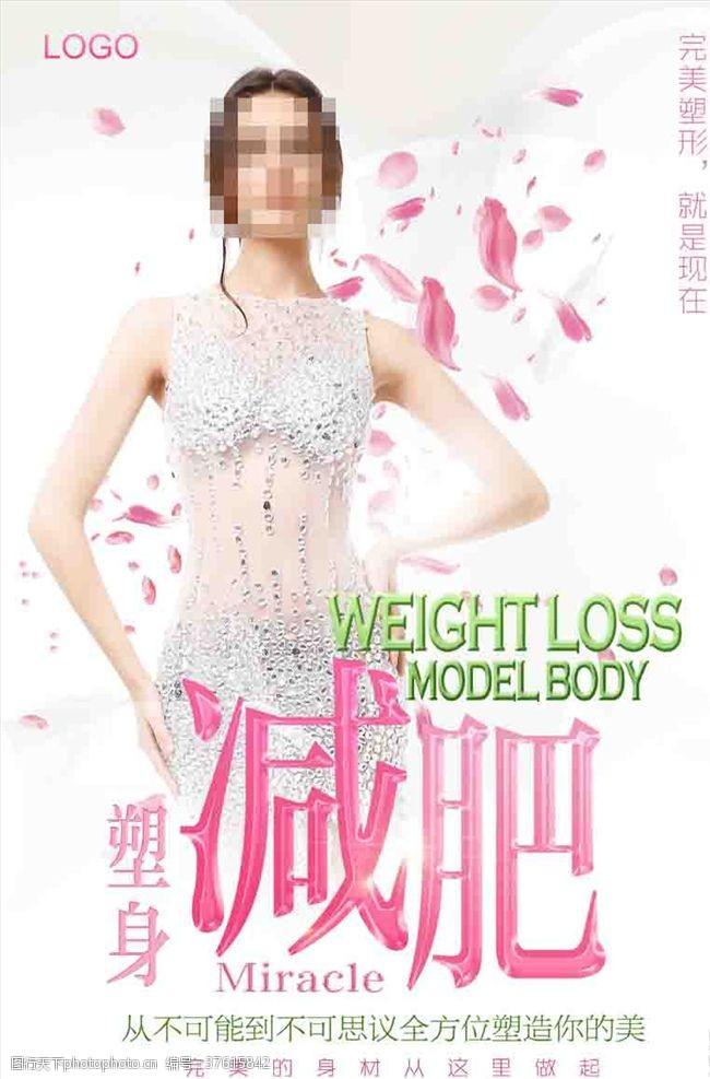腹部瘦身减肥海报