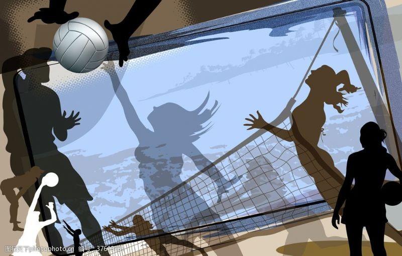 排球设计女子排球游乐场