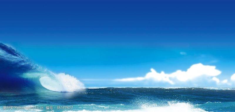 海浪背景设计