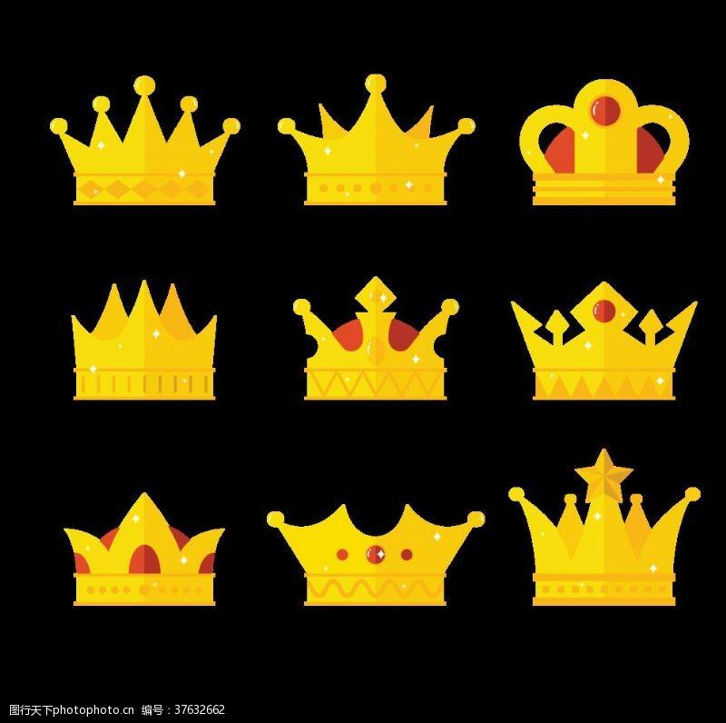 电影院单页卡通皇冠