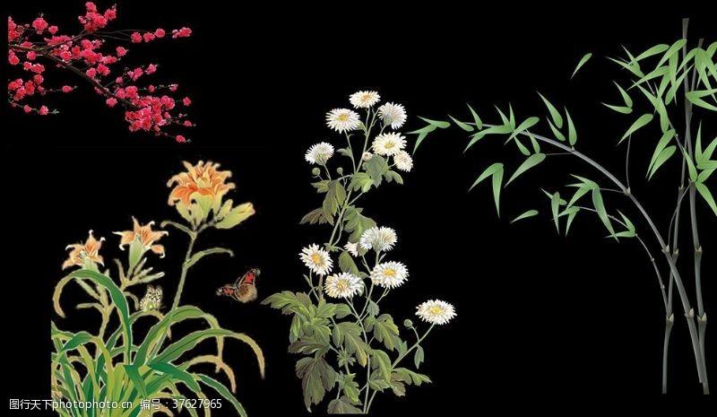 红梅梅兰竹菊
