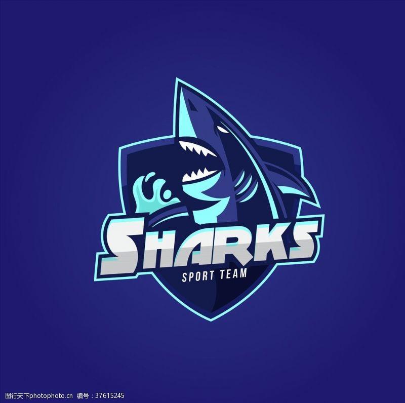 海洋风鲨鱼LOGO