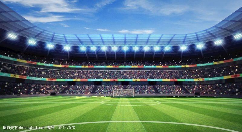 绿茵场足球场